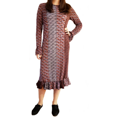Mauve Bell Sleeve Dress by Jenny