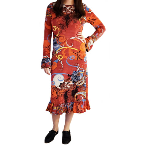 Paisley Bell Sleeve Dress by Jenny