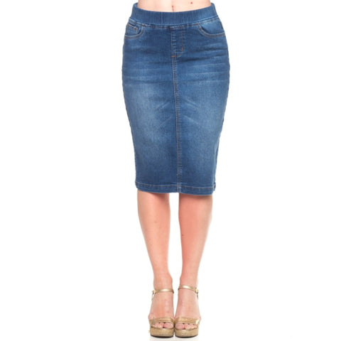 Denim Skirt by G: Indigo Wash