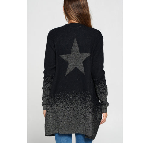 Metallic Star Cardigan