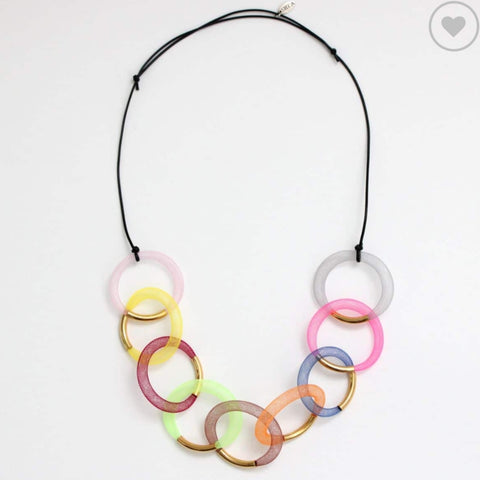 Sylca Necklace: Mesh Statement Colorful