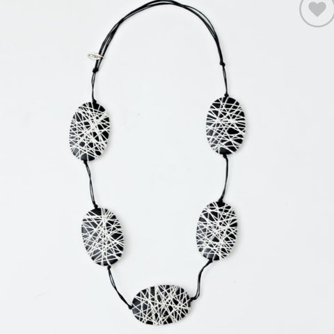 Sylca Necklace: Felicity Black & White