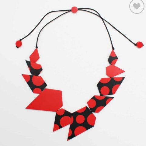 Sylca Necklace: Polka Dot Lexi Red