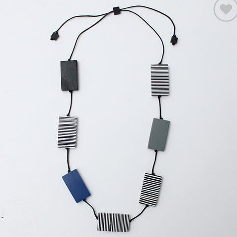 Sylca Necklace: Rectangle Hannah Blue