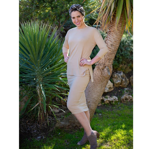 Ribbed Two Piece Set By Daniella Faye: Camel