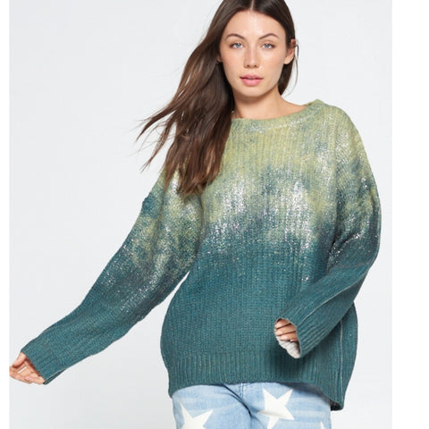 Ombre Sweater: Green