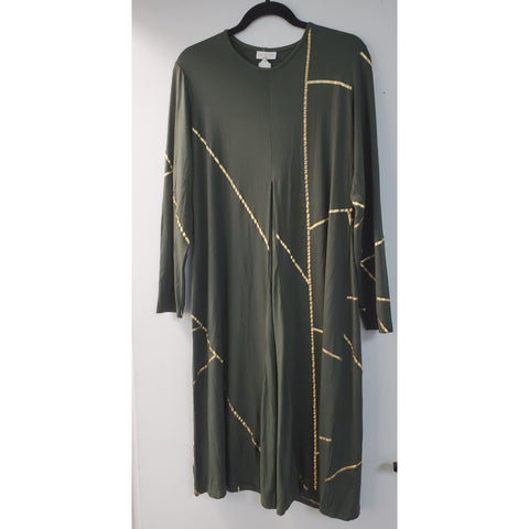 Rie Kintsugi Dress: Green/Gold
