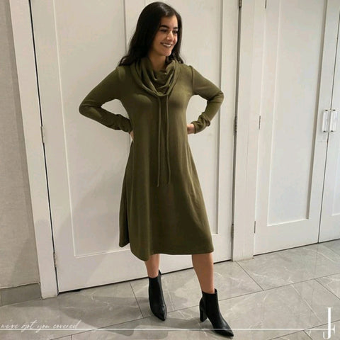 Brooklyn Dress: Olive