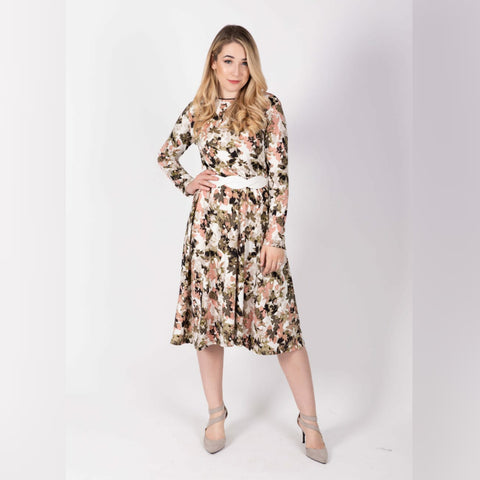 Everything Dress: Ivory Floral