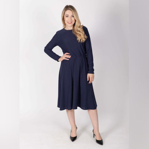 Everything Dress: Navy Eyelet