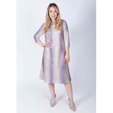 Hannah Penny Dress-Ombre Sequin
