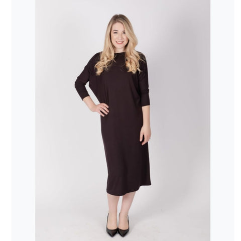 Deena Dolman Dress: Black