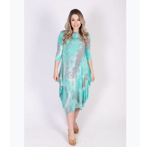 Georgiana Dress Tye Dye - Mint Tye Dye