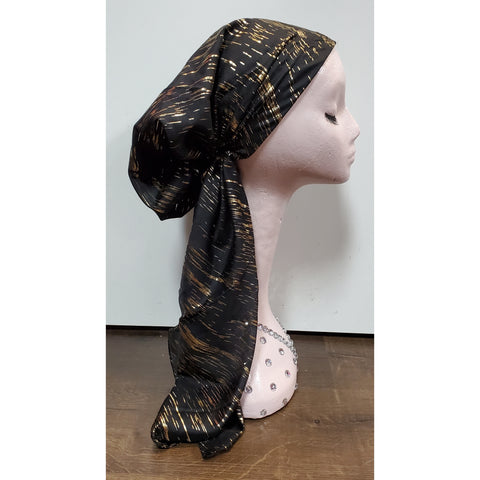 Metallic Streaky Atifa Metallic Pre-Tied Headscarf