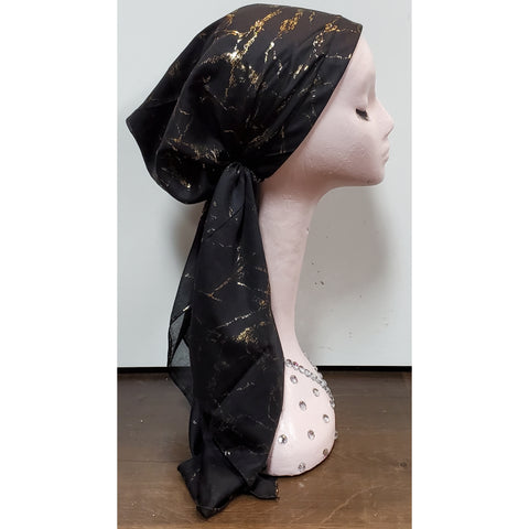 Metallic Crackle Atifa Metallic Pre-Tied Headscarf