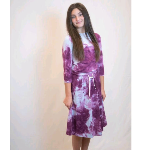 Shira Set: Purple/ Blue Swirl Tye Dye