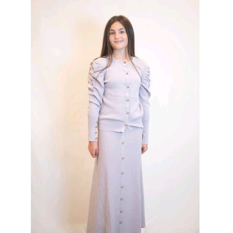 Button 2 Piece Set: Lilac/Silver