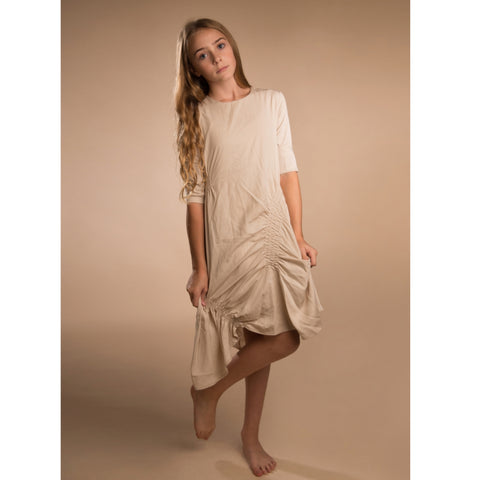 Scrunched Dress by Paisley (Teen): Beige