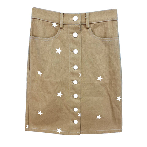 Star Skirt (Teen): Camel