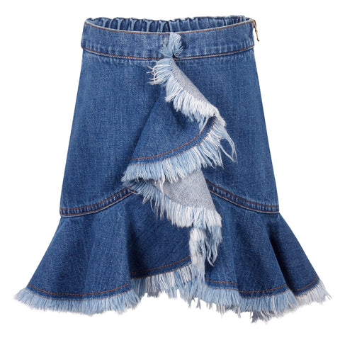 Ruffle Denim Skirt (Teen)