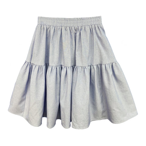 Tiered Skirt (Teen): Denim
