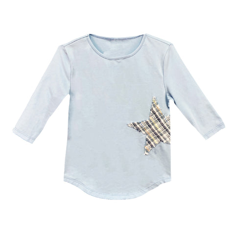 Star Patch Top (Teen): Blue
