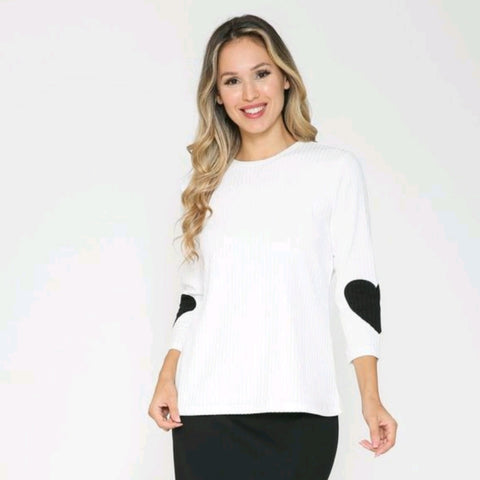 Ribbed Heart Patch Top by Ivee
