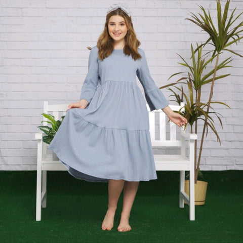 Liora Tiered Dress (Teen): Blue