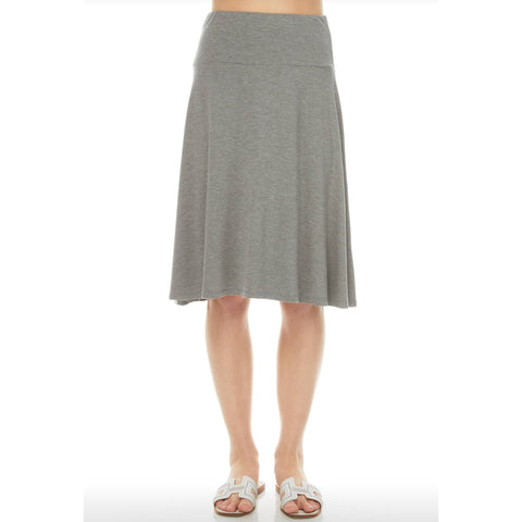 Modal Skye Skirt by Maya's: Grey