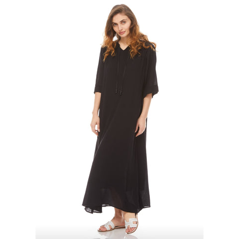 Summer Midi Maxi Dress: Black