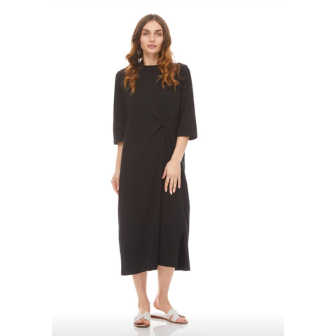 Twist Midi Maxi Dress: Black