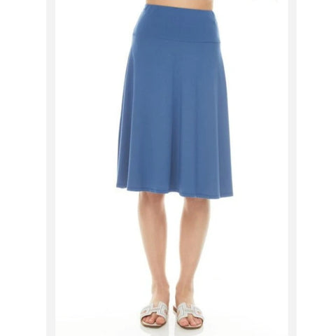 Modal Skye Skirt by Maya's: Slate Blue