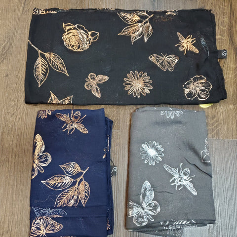 Dacee Headscarves: Butterflies/Leaves/ Bugs