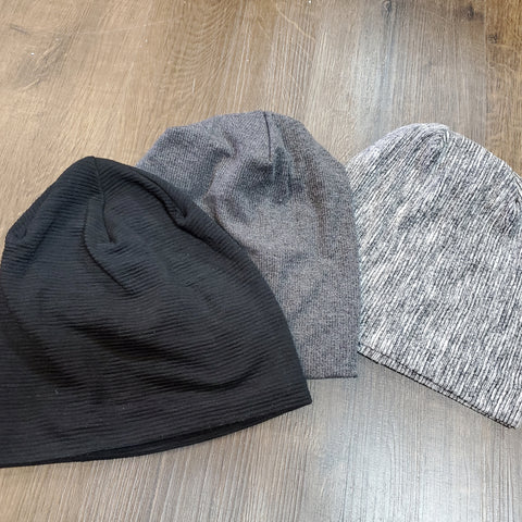 Solid Ribbed Beanies by Dacee