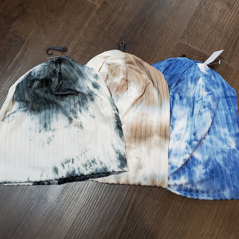 Tye Dye Ribbed Soft Beanies by Dacee