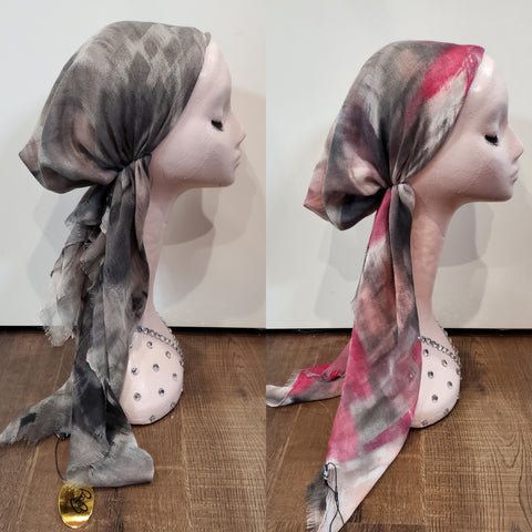 Dacee Pre Tied Headscarves: Airbrush