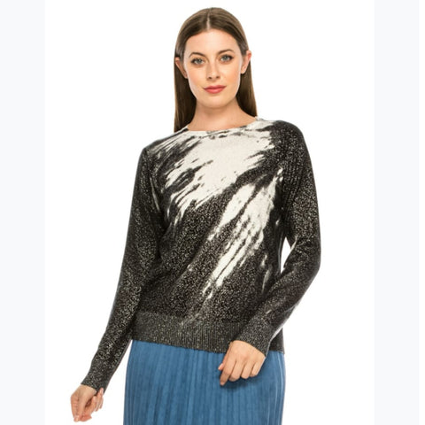 Silver Shimmer Speckled Sweater by Yal