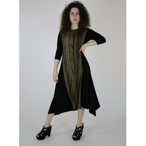 Erina Dress by Mikah: Black/Yellow Lace
