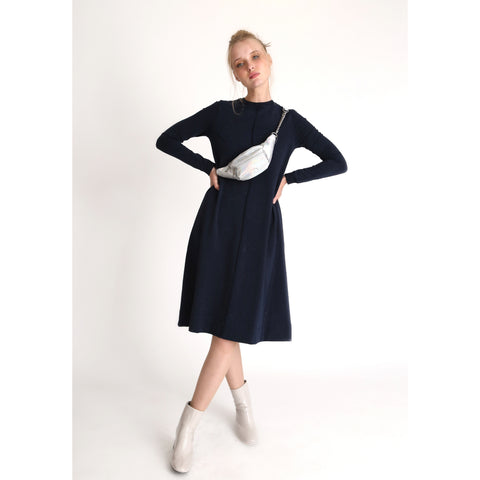 Valour Washed Dress: Blue