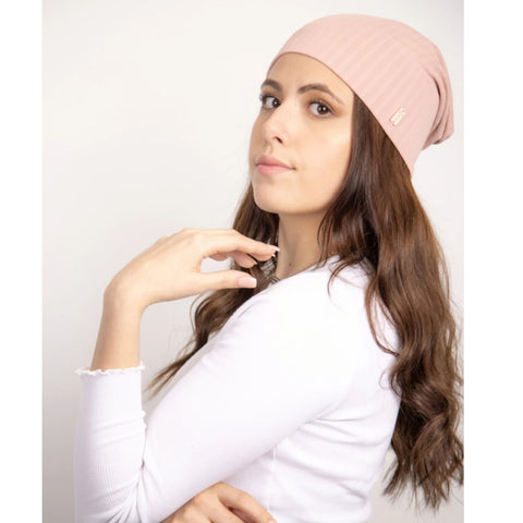 Emily Wide Ribbed Beanie by Valeri