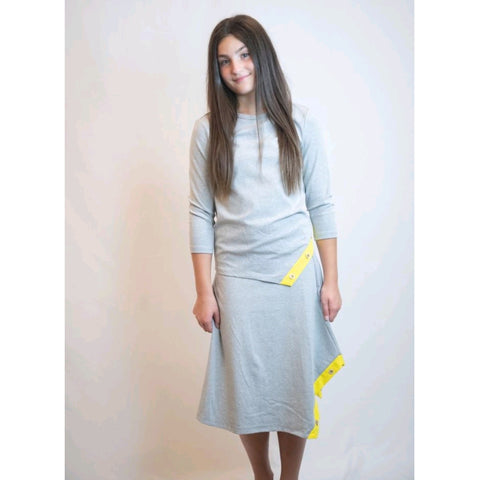 Betty Button Camp 2 Piece Set: Grey/Yellow