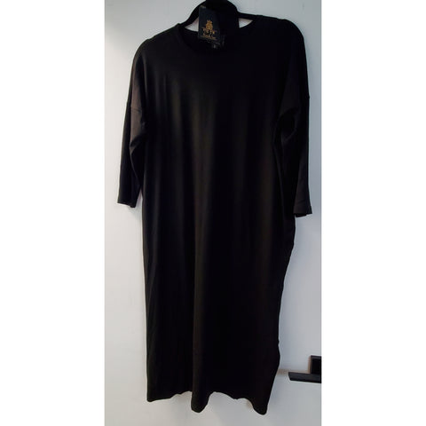 Black Square Dress by DF