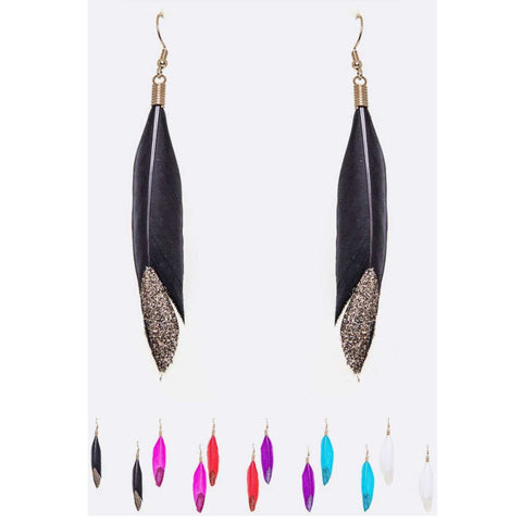 Feather Shimmer Earrings