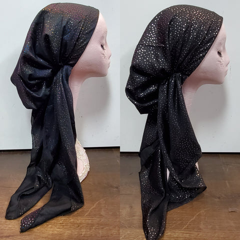 Metallic Dotted Atifa Metallic Pre-Tied Headscarf