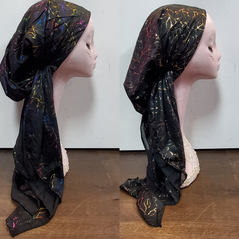 Branched Atifa Metallic Pre-Tied Headscarf