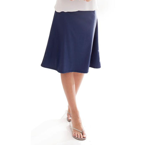 Swim Aline Skirt: Navy