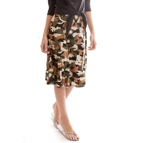 Swim Aline Skirt: Camo