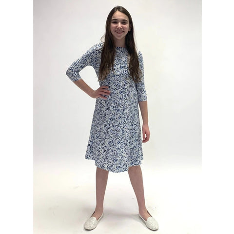 Blue Cloud Tunic Dress: Teen