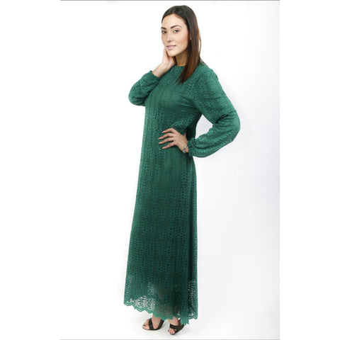 Layla Lace Maxi: Emerald Green