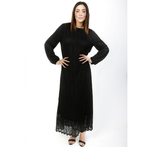 Layla Lace Maxi: Black